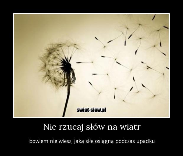 Nie rzucaj słów na wiatr