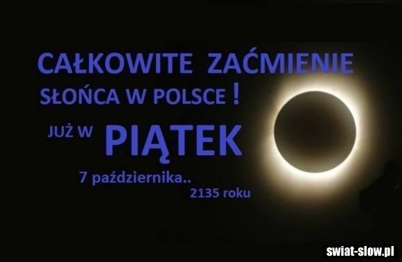Całkowite zaćmienie śłońca w Polsce
