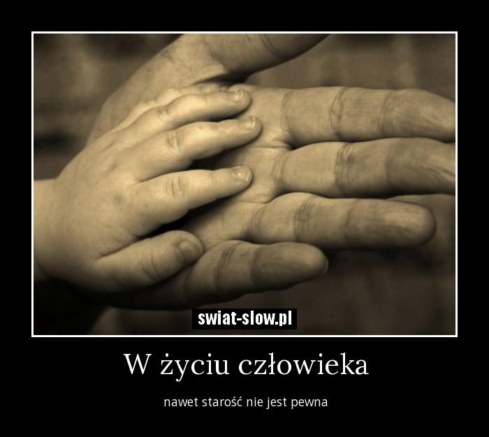 W życiu człowieka
