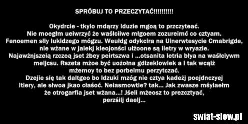 Spróbuj to przeczytać!