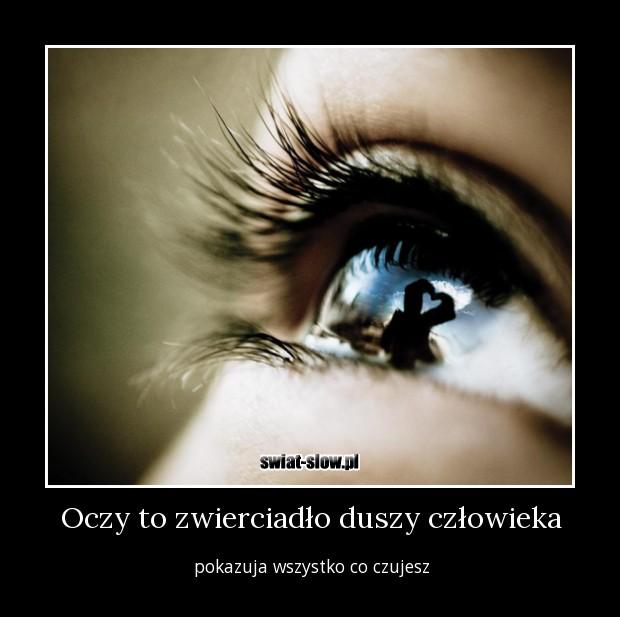 Oczy to zwierciadło duszy człowieka