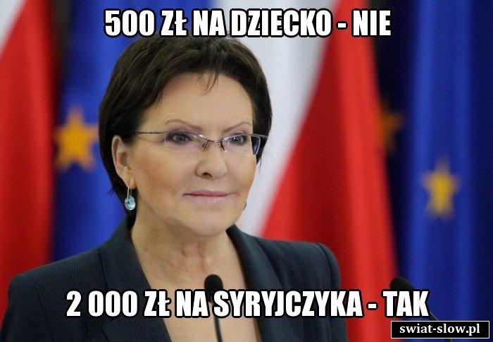 500 zł na dziecko - nie