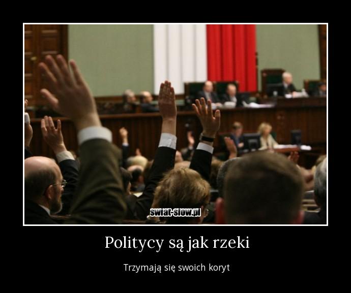 Politycy są jak rzeki